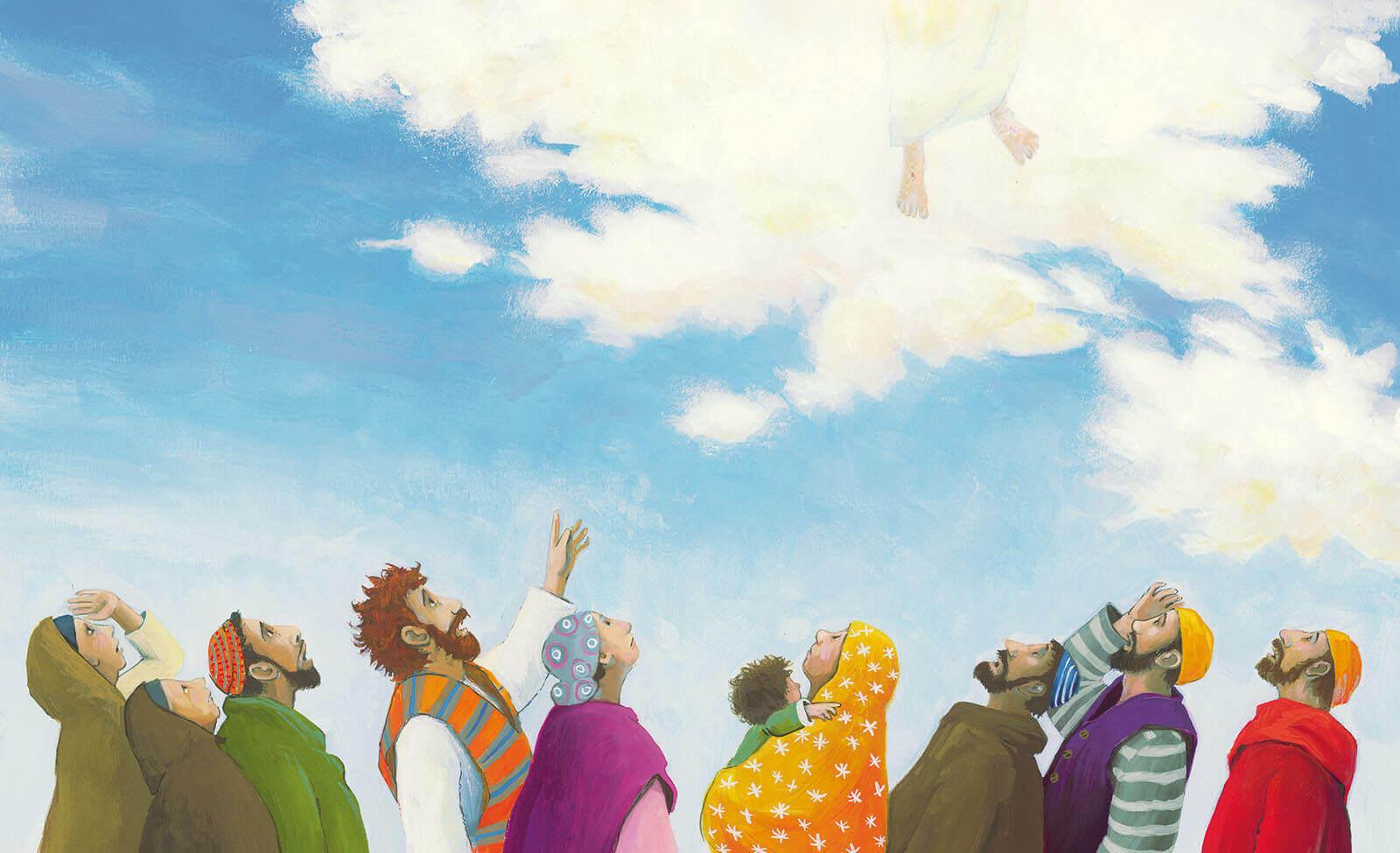 Prentenbijbel - Jezus gaat naar de hemel