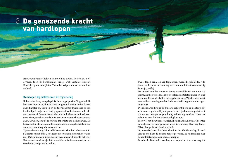 Hardloopboek - Morgen ga ik echt - spread