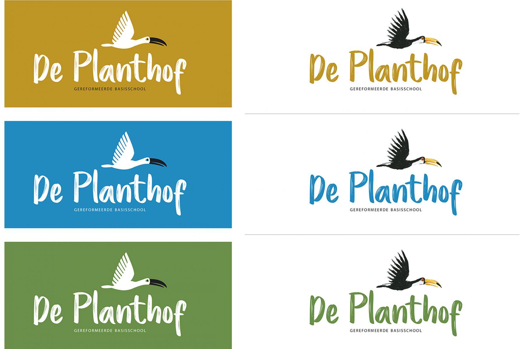 Logovoorstellen voor basisschool De Planthof - 2018