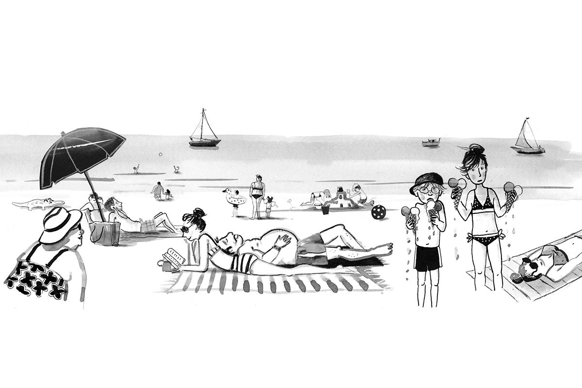 Kikkervisjes in de soep - strand